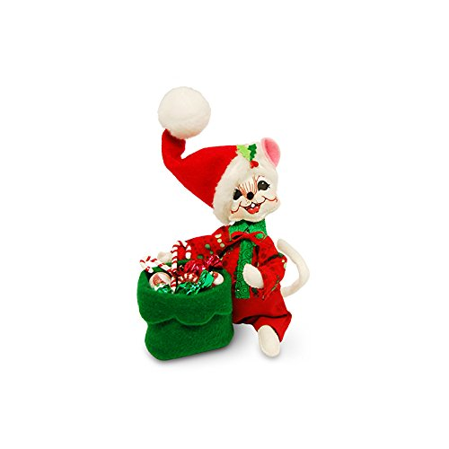 Candy Christmas Annalee (Annalee - 6in Festive Candy Boy Mouse)