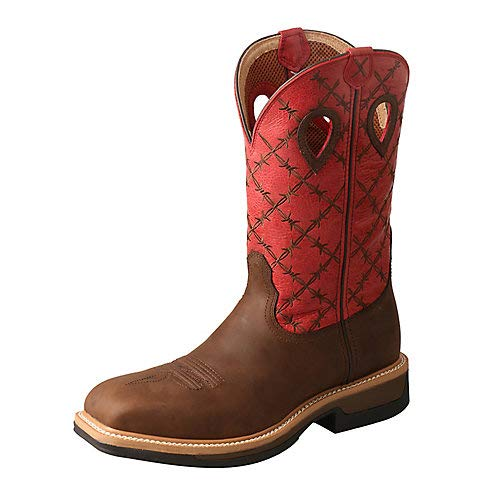 Twisted X Men's Lite Cowboy Western Work Boot Wide Square Toe Brown 14 EE by Twisted X