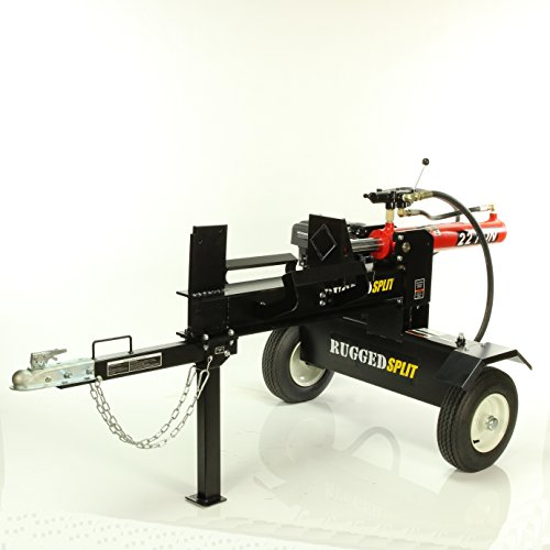 22-Ton Push Through Gas Log Splitter, 212CC Electric Start by RuggedMade