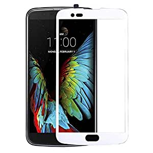 Clear Tempered Glass Screen Protector with White Frame For LG_G4