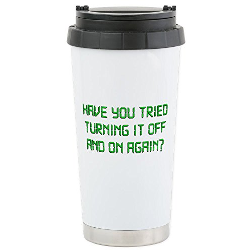 CafePress - Have You Tried Turning It Off And On Again? Travel - Stainless Steel Travel Mug, Insulated 16 oz. Coffee Tumbler
