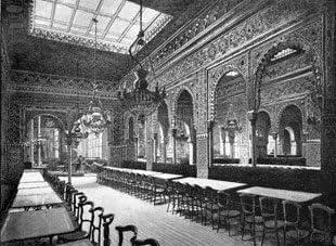 Grabado antiguo (1886) - Xilografía - Valencia.- Gran Café De España: Salón Árabe (18.5x26), Plá Y Valor, M.: Amazon.es: Hogar