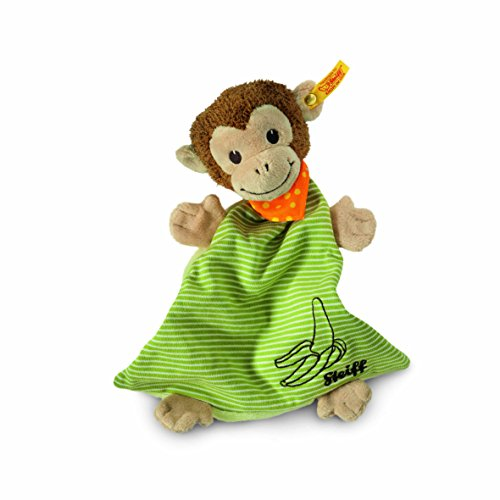 Steiff 240201 Jocko Monkey Comforter -, Brown/Beige/Green