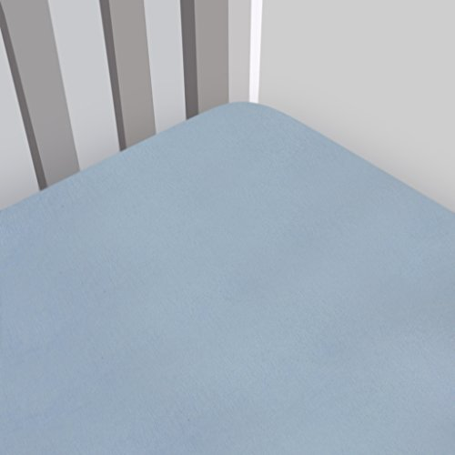 Fleece Organic (Magnolia Organics Fitted Fleece Crib Sheet - Standard, Baby Blue)