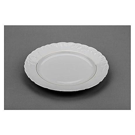 Cmielow PL-25 10-Inch Platinum Band Plate Porcelain Dinner Plates with  sc 1 st  Amazon.com & Amazon.com | Cmielow PL-25 10-Inch Platinum Band Plate Porcelain ...