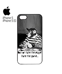 chen-shop design Monkey Playing Card Game Mobile Cell Phone Case Cover iPhone 5&5s White high quality