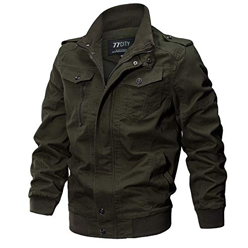 CUCUHAM Men's Clothing Jacket Coat Military Clothing Tactical Outwear Breathable Coat(Army Green,XXX-Large)