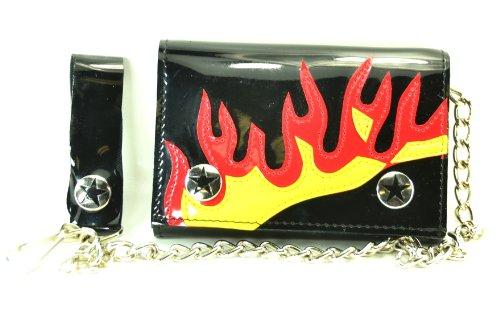Flame Biker Boots - 8