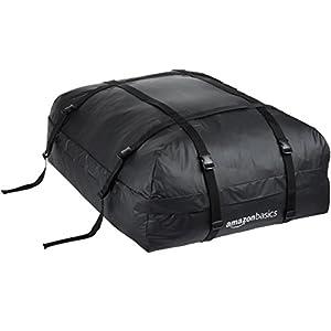 AmazonBasics Rooftop Cargo Carrier Bag, Black, 15 cu. ft.