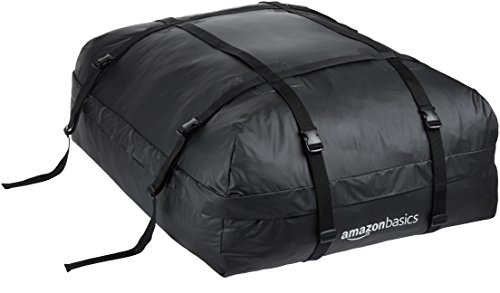 Roof Rack Cargo Carrier Storage - AmazonBasics Rooftop Cargo Carrier Bag, Black, 15 cu. ft.