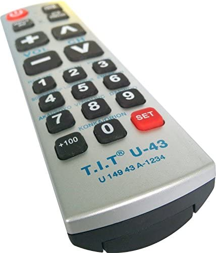 Gmatrix Best Big Button Universal Remote Control Vizio Panasonic Sharp A-TV10