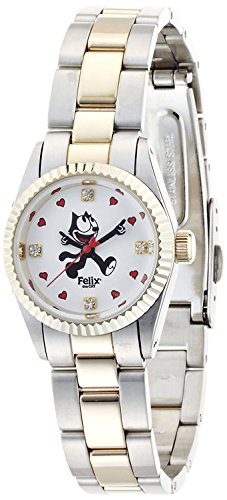 FELIX THE CAT watch Combination Type Hamilton Gold × Silver combination belt 4 points Swarovski world limited 80 this 23-0502 Ladies