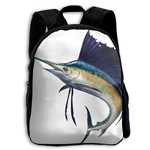 Blue Marlin Sailfish School Backpack Knapsack Casual Daypack Children Travel Backpack For Kids Boys Girls ()