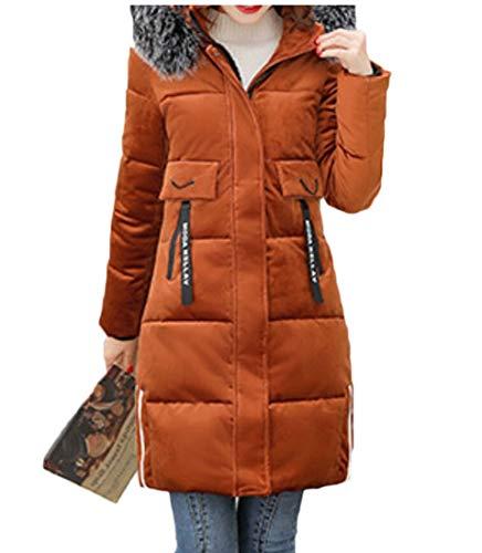 Coat 1 Womens EKU Long Hood Thick Jackets Down Warm O80q6S