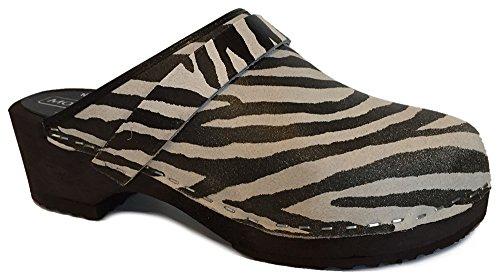 Moheda Lena Zweedse Klompen - Zebra Zebra