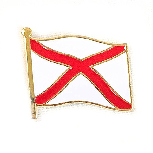 Alabama Waving Flag Lapel Pin State Made of Metal Souvenir