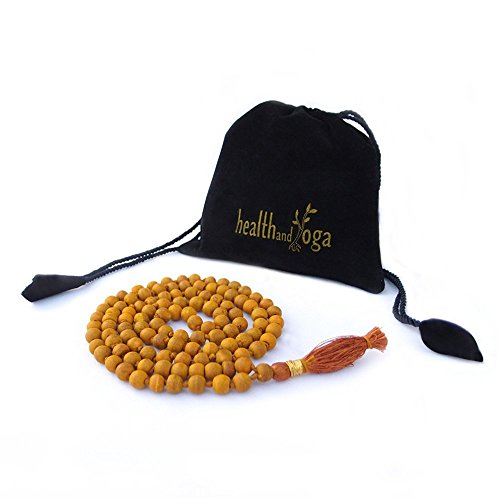 HealthAndYoga TM Mala Beads Turmeric