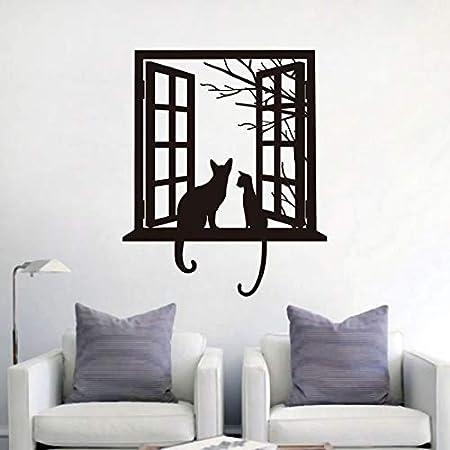 supmsds Etiqueta de la Pared del Gato Negro Gatos de Vinilo ...