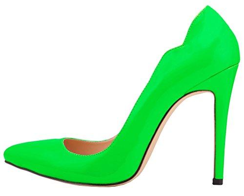 Con Su Verde Scarpe A Matrimonio Col Tacco Donna Caramella Spillo Hooh Scivolare Colore Della P8kXn0wO