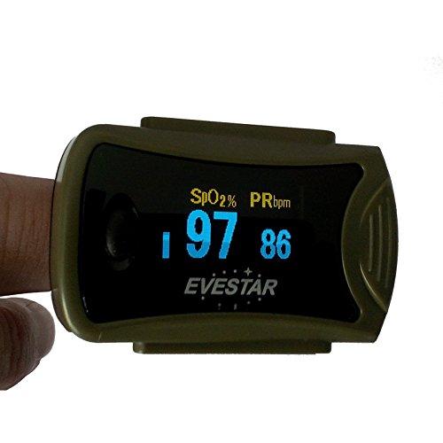Sturz und fallsicherer Pulsoximeter, Fingerpulsoximeter MD300C63 OLED Display mit Trageband und Nylontasche