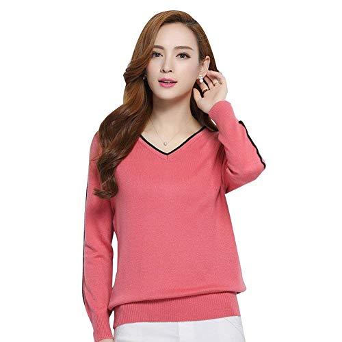 Moda Ragazza Autunno V Donna Camicia A Casual Lunghe Bluse Eleganti Shirts Neck Chic Pullover Maniche Tops Invernali Camicetta gcWTUWO