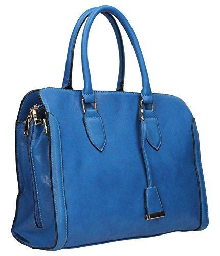 SwankySwans, Borsa a mano donna Blu blu L