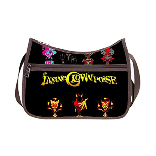 COMPACT &LIGHTWEIGHT Insane Clown Posse Custom Custom Fabric lassic Hobo Handbag (Twin Sides) (Clown Makeup Styles)