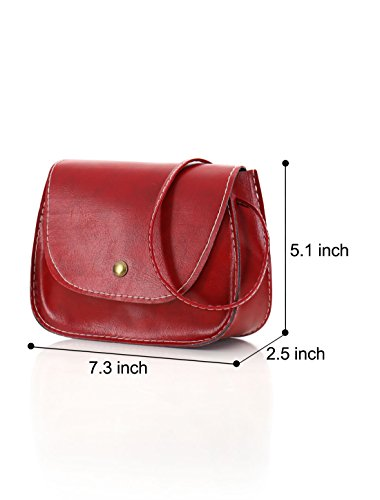 Sourcingmap, Borsa a tracolla donna Small Red