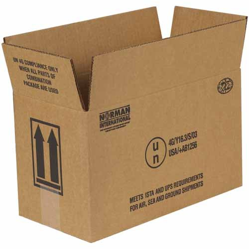 Aviditi HAZCO2G 2 - 1 gallon Haz Mat Boxes, 14 1/8'' x 6 7/8'' x 7 7/8'' (Pack of 20)