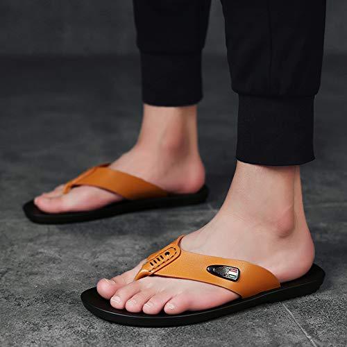 A1 gituttio Marronee Shukun Infradito Pantofole Antisdrucciolevoli da Uomo