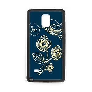 Watercolor bird Custom Phone Case for Samsung Galaxy Note 4,personalized Watercolor bird Case