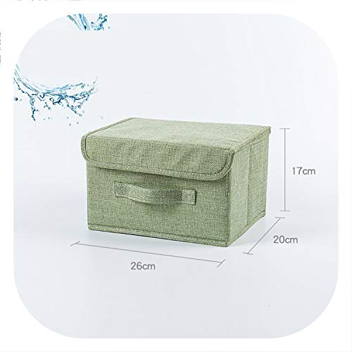 Cotton Linen Fabric Folding Storage Box Kids Toy Organizer Wardrobe Storage bin Drawer Plastic Container organizador maquillaje,5