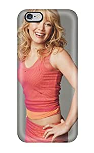 Travers-Diy Iphone case cover - case cover protective For Iphone 6 Plus- Hilary Duff Red Laughing Blonde Grey Wall People AqgWMjIR4zw Women