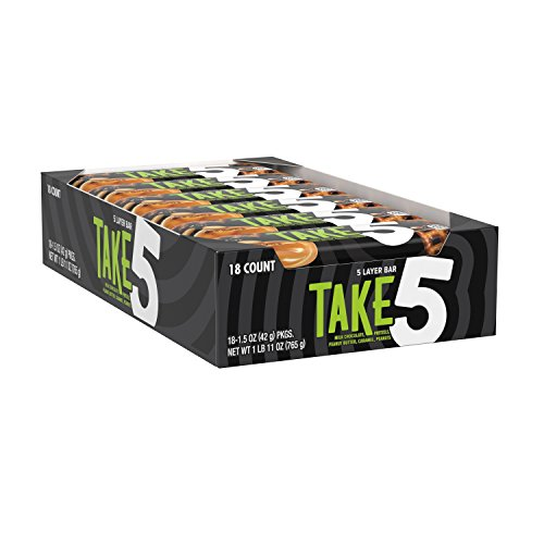 Bar Valentines Candy (TAKE5 Chocolate Candy Bar with Peanuts (Pack of 18))