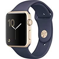 Apple Watch Series 2 42mm (Gold Aluminum Case, Midnight Blue Sport Band) MQ152LL/A