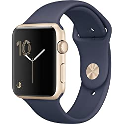 Apple Watch Series 2 42mm (Gold Aluminum Case, Midnight Blue Sport Band) Mq152lla