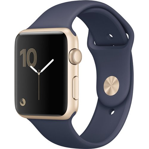 Cheap Apple Watch Series 1 42mm Smartwatch (Gold Aluminum Case, Midnight Blue Sport Band)