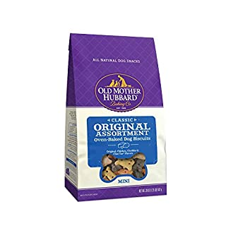 Old Mother Hubbard Classic Original Assortment Biscuits Baked Dog Treats, Mini, 20 Ounce Bag, Chicken