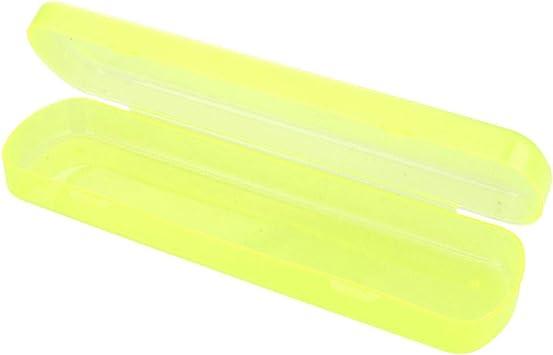 SuperglockT - Estuche para cepillo de dientes, de viaje, resistente al polvo, caja de protección para pasta de dientes, caja organizadora, portacepillos de dientes, funda para cepillos de dientes portátil, color amarillo: