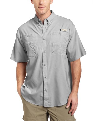 Columbia Men's Tamiami II Short Sleeve Fishing Shirt (Cool Grey,XXL)