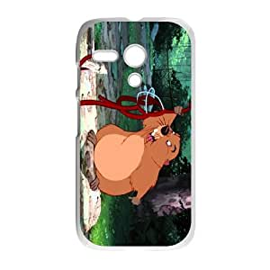 Motorola G Cell Phone Case White Lady and the Tramp Character Beaver