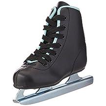 American Athletic Shoe Boy's Little Rocket Double Runner Ice Skates, Black