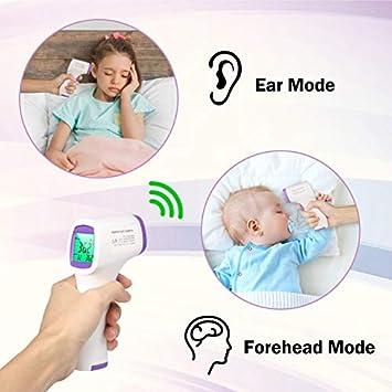 5-10 Versandtage, versand aus deutschland Infrarot Non Contact Temperaturpistole,Digitalf/ür Kinder,Baby,Erwachsenen mit LCD Display Hintergrundbeleuchtung