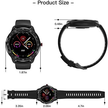 CanMixs Smart Watch for Android iOS Phones, 1.3″ Touch Screen Bluetooth Fitness Tracker Watches for Men Women, IP67 Waterproof Activity Tracker with Heart Rate Monitor Sleep Compatible Samsung iPhone 41VuIgj0GZL