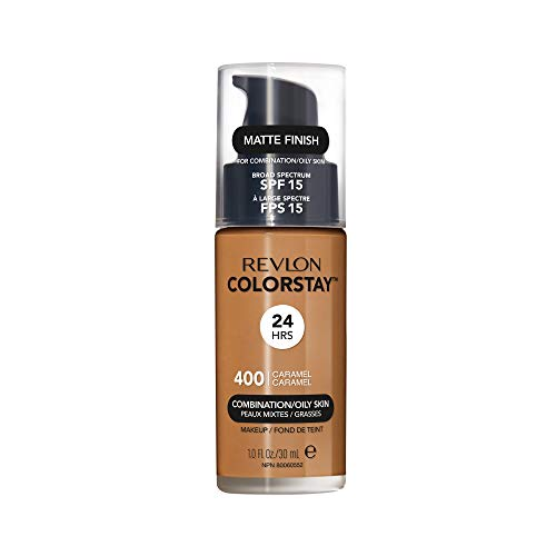 Revlon ColorStay Liquid Foundation For Combination/oily Skin, Caramel, 1 Fl Oz (Finish Caramel Medium)