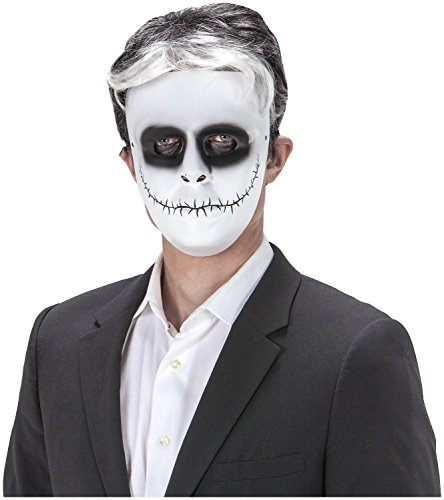 [Day Of The Dead Comic Face Skeleton Skellington Face Mask Halloween Costume] (Skeleton Jack Costumes)