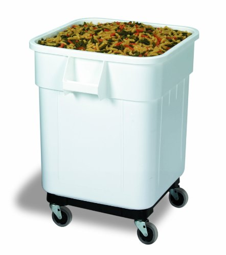 Continental 9332, White 32 Gallon Square Economy Ingredient Bin (Case of 1)