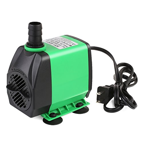 PEDY 800GPH (3000L/H) Submersible Water Pump For Pond, Aquarium, Fish Tank Fountain Water Quiet Pump Hydroponics, 24W by Pedy
