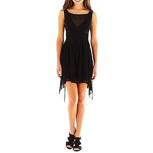 My Michelle Illusion High-Low Dress Black New Junior Size 5