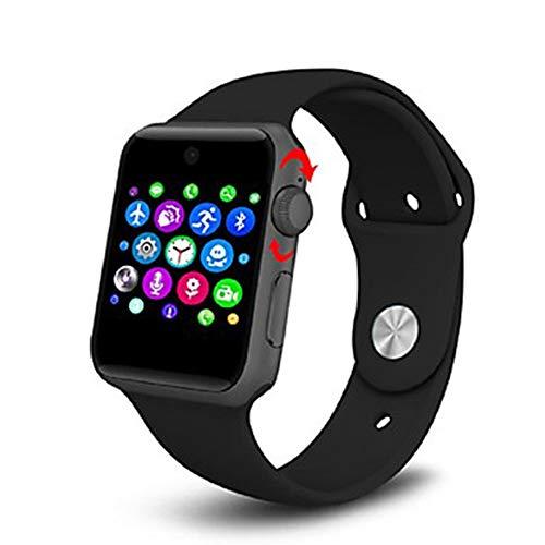 GAOPIN Bluetooth Smart Watch 2 5D Bogen Hd Screen Unterstuetzung Sim Karte Tragbare Geraete Smart Watch Fuer iOS Android,Black